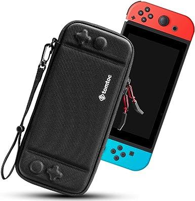 tomtoc Funda Ultra Delgada para Nintendo Switch, Patente Original Estuche Rígido con más Espacio de Almacenamiento para 10 Juegos, Case de Transporte con Proteción de Nivel Militar, Negro: Amazon.es: Videojuegos