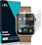 [6 Pack] L K Screen Protector for Apple Watch 44MM Series 5/4 , [Full Coverage] [Self Healing] Bubble Free for iWatch 44MM Flexible TPU HD Clear Film