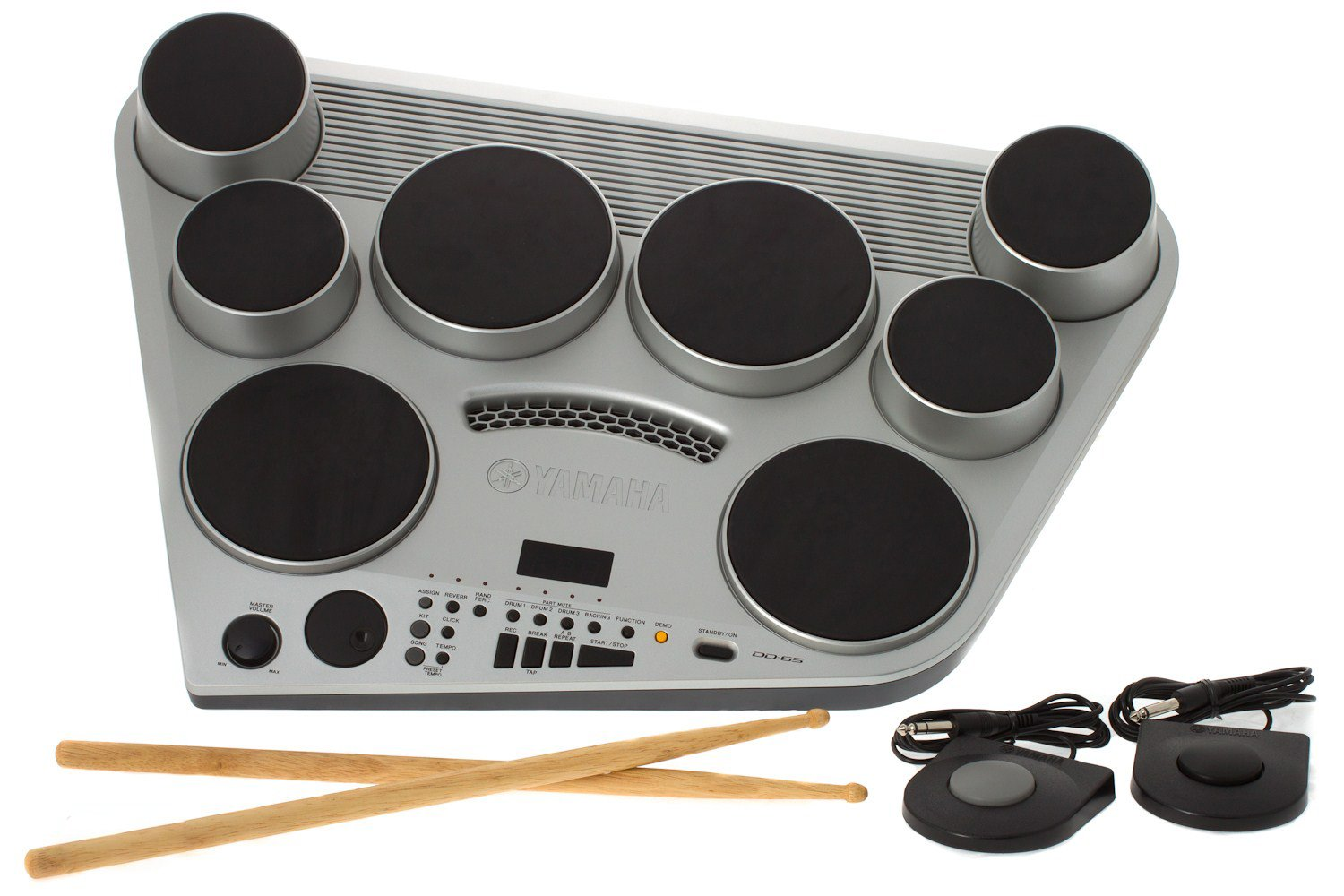 Yamaha DD65 Electronic Drum Pad Premium Package with Headphones, Power Supply, Drum Sticks, and 2 Foot Pedals Yamaha Corporation of America DD65 PAK
