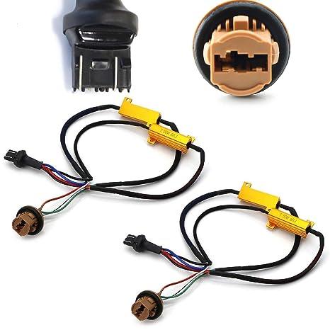 iJDMTOY (2) Adaptadores de cableado para intermitente de hiper/bombilla de error,