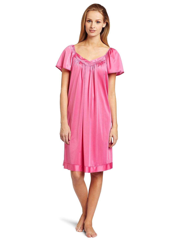 Vanity Fair Women's Colortura Sleepwear Short Flutter Sleeve Gown 30109 Vanity Fair Women' s IA 30109-P