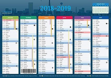 Calendrier 2019 2020.Calendrier 2019 2020 Format A4 Papier Epais