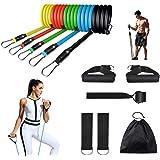 Portzon Resistance Band Set, Workout Bands, Exercise Bands Door Anchor Handle Resistance Training, Convenient, Durable, Exerc