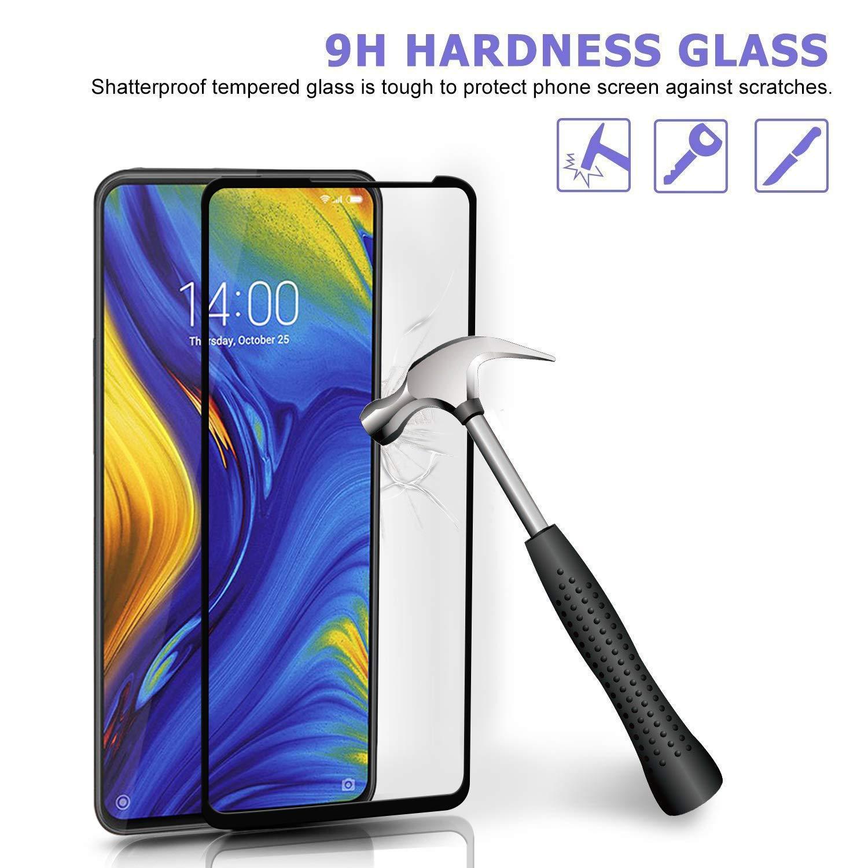 Ferilinso Cristal Templado Xiaomi Mi Mix 3, [3 Pack] [Cubierta Completa] Protector de Pantalla Screen Protector con garantía de reemplazo de por Vida ...
