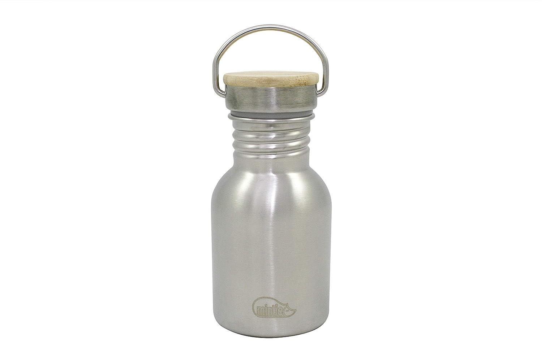 mintie 350 Botella de Agua de Acero Inoxidable | Botella de Bebidas | 350 ml | sin BPA | sin plástico | Ligera ya Prueba de Fugas | Ideal para niños |