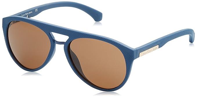 Calvin Klein Round Eye Gafas de Sol, Navy, 56 Unisex: Amazon ...