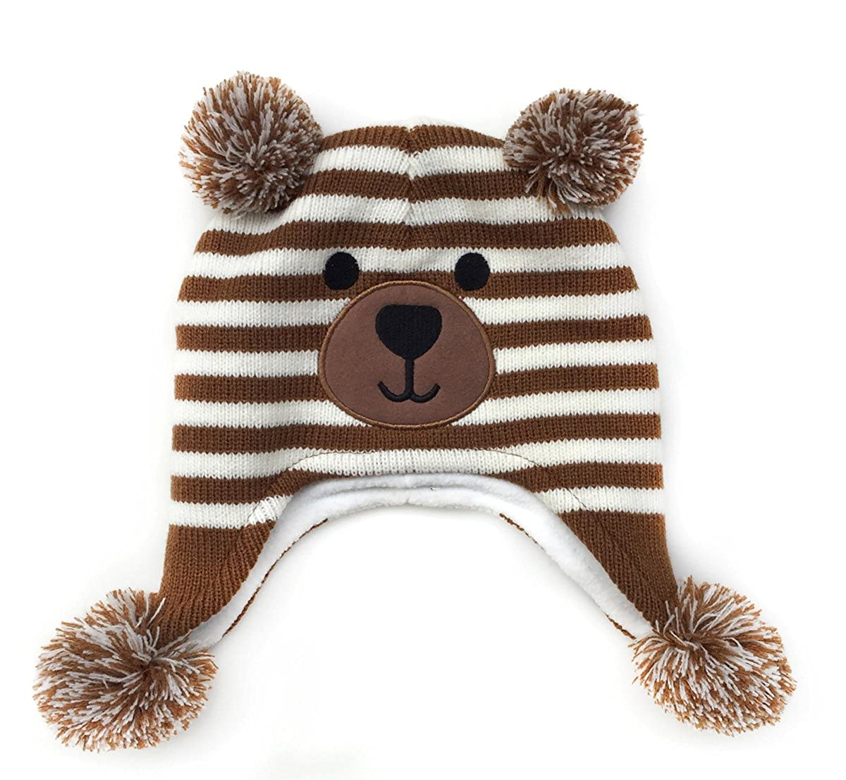 LoveKids Girls and Boys Sherpa Lined Fleece Hat Earflap