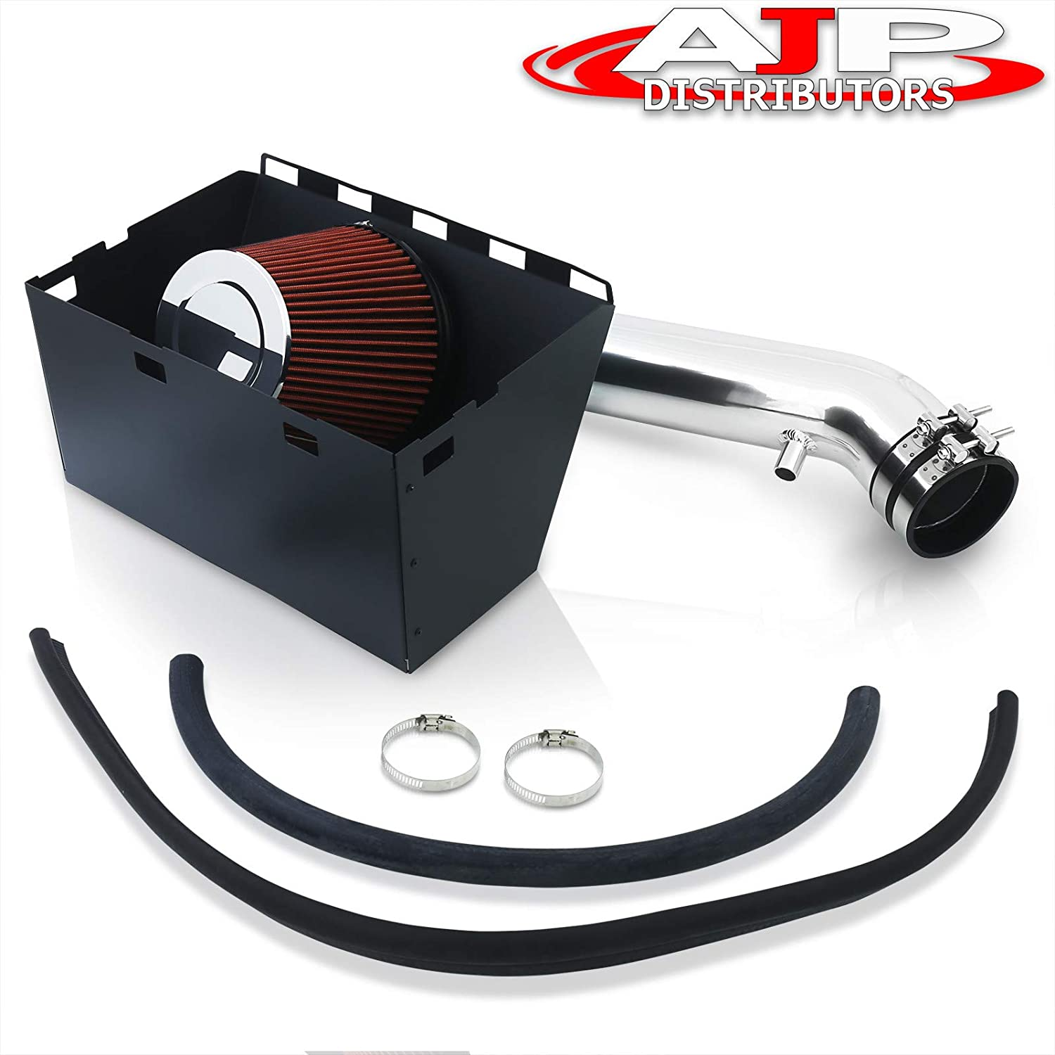 For Dodge Ram 1500 2500 3500 5.7L V8 High Flow Induction Air Intake System Heat Shield Chrome Piping Kit
