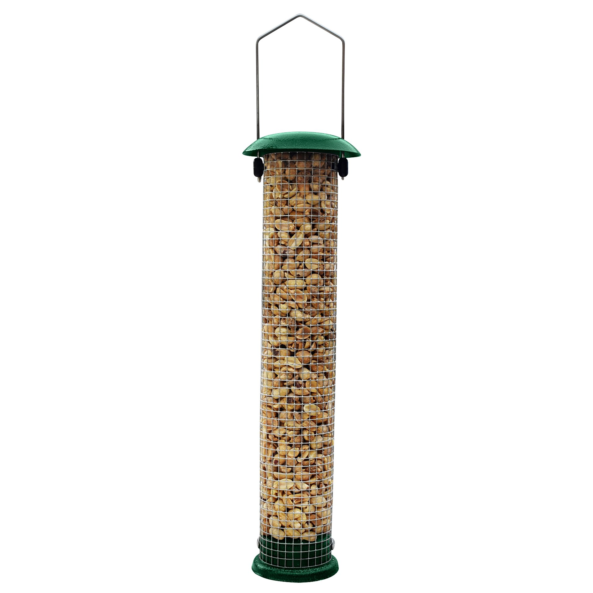 GrayBunny GB-6857 Premium Steel Sunflower Seed Feeder and Peanut Feeder, 15'' Tall, Wild Bird Feeder for Woodpeckers, Titmice, Nuthatches, Chickadees, Jays and More!