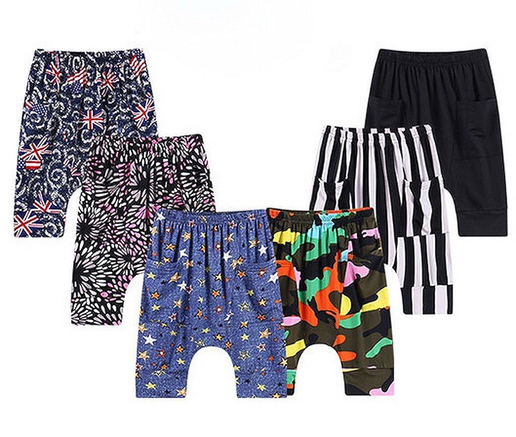 AOYOMO Boy Girl Children Capri Harem Pants Kids Bloomers Night Sleep Trousers