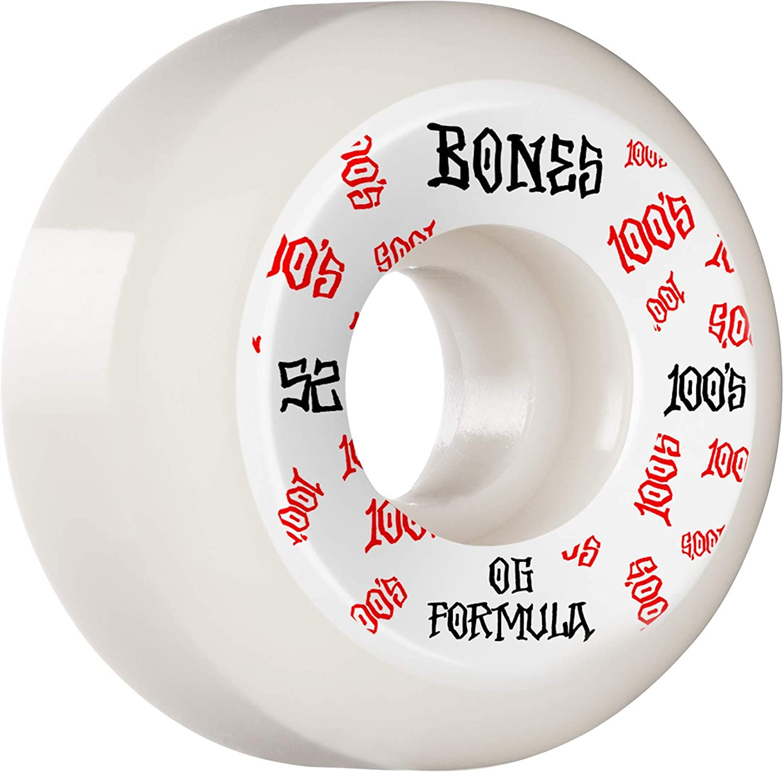 WSBABCM520013A4 Bones Wheels  100s /• #13 /• 52mm /• White /• Wide