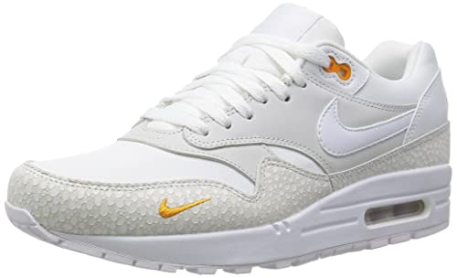 a3a974506d NIKE Men's Air Max 1 PRM Running Shoes, White/Kumquat, 7.5 UK ...