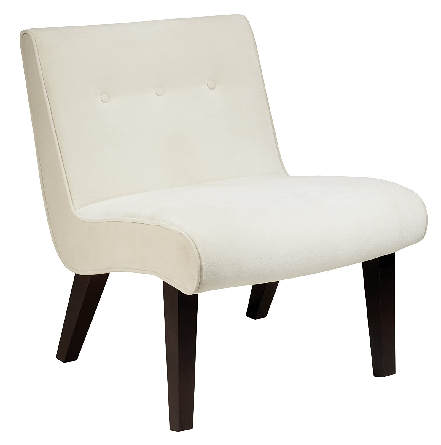 Amazon AVE SIX Curves Valencia Accent Chair with Solid Wood