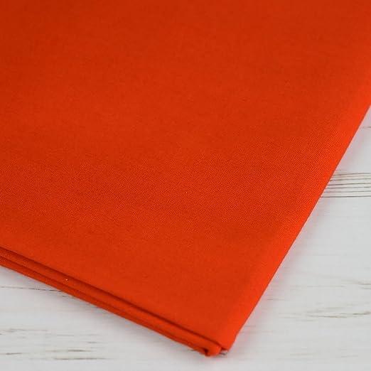 Plain extra ancho láminas de naranja 100% algodón Craft Tela 60 cm de ancho – se vende por metro: Amazon.es: Hogar
