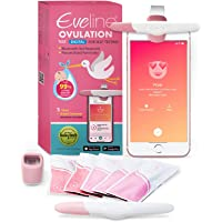 Eveline Digital Ovulation Predictor Test - Easy at Home Ovulation Test Kit with Smart Scanner and 5 Fertility Test Strips, 1 Cycle Supply Pregnancy Must Haves - FDA Listed for 99% Accuracy
