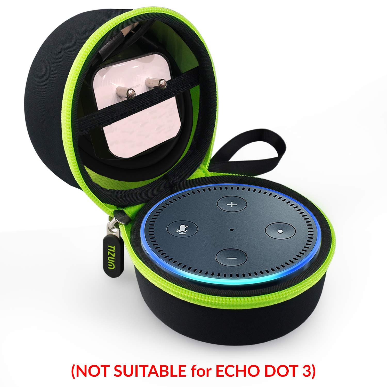 Tizum EchoDotB Travel Portable Hard Case Pouch for Echo Dot (Black)