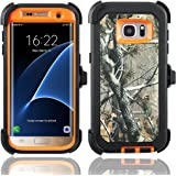 Galaxy S7 Edge Case,Samsung Galaxy S7 Edge Case,Kuool Heavy Duty Rugged Scratch Resistant Shockproof Max Protective with Belt Clip & Built-in Screen Protector Case for Galaxy S7 Edge(Xtra Orange)