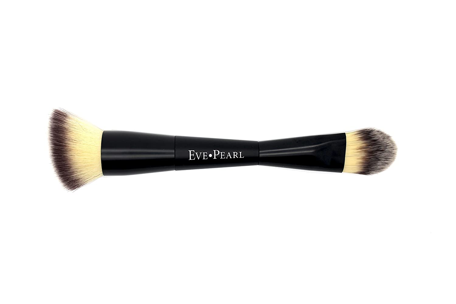 EVE PEARL Dual Brush Crease Blender Fan Highlighter Blush Contour Hypoallergenic Synthetic Easy Control And Blend Makeup Brushes 201 Contour Blender