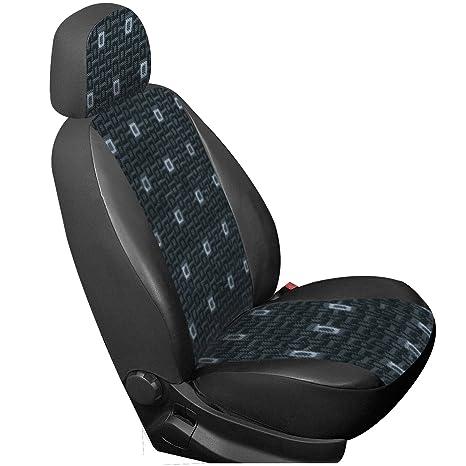 WOLTU AS7351 Coprisedile Anteriore Universale Singolo per Van Seat Cover Protezione per Sedile della Macchina Poliestere Pelle Houndstooth