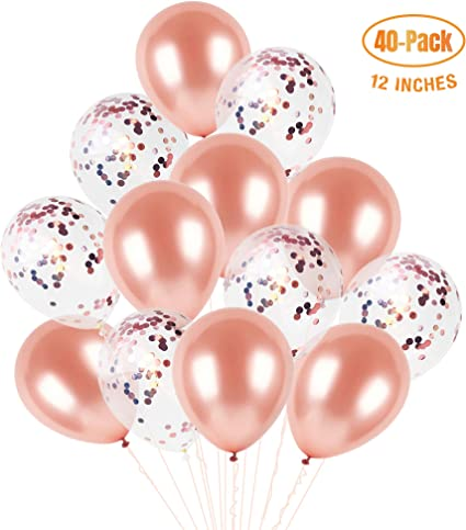 40pcs Confetti Balloons Helium Latex Wedding Birthday Party Boy Girl Room Decor