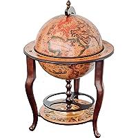 Stilemo Globus bar im Antikdesign - Globusbar in edlem rotbraun