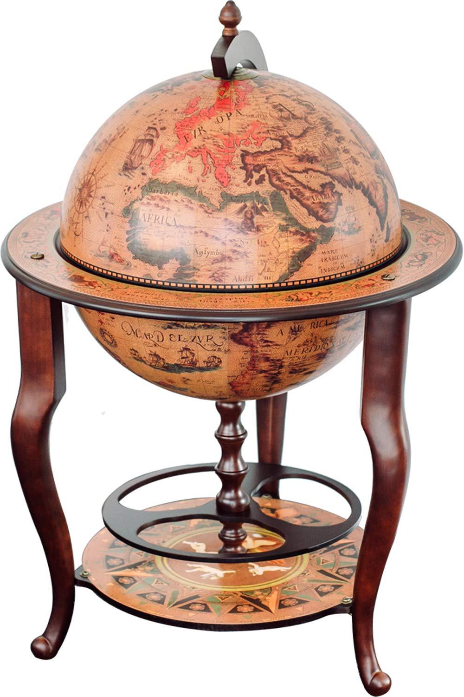 Stilemo Globus bar im Antikdesign - Globusbar in Edlem rotbraun ...