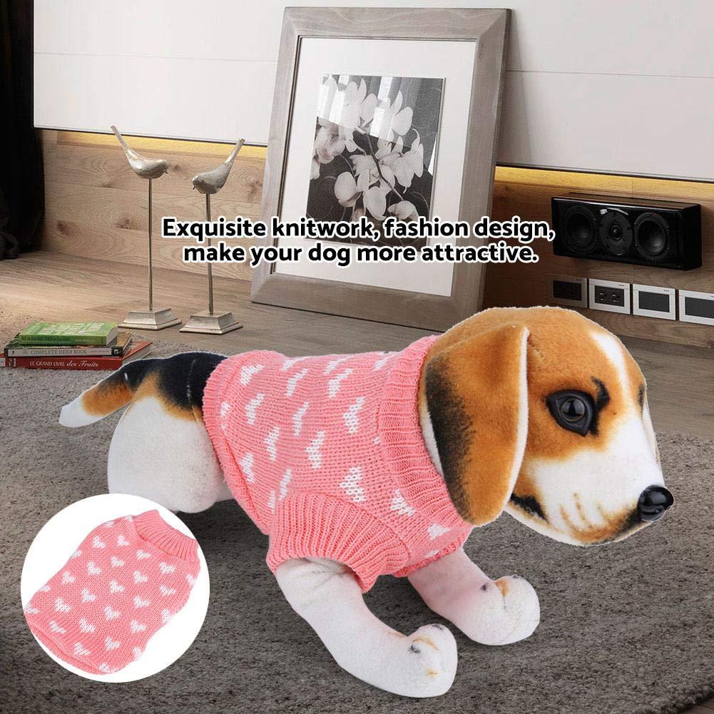 Fdit Socialme-EU Cachorro Perro Ropa para Mascotas Precioso Gato Cachorro Abrigo Invierno Rosa Cálido Prendas de Punto Suéter Adorable Halloween Navidad(L): ...