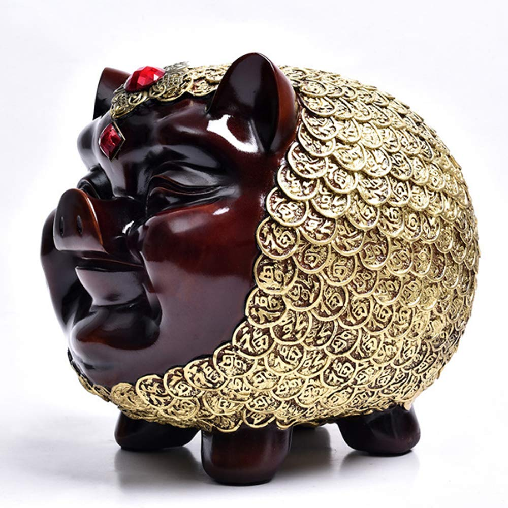 Warm Homes Personalized Resin Coin Piggy Bank Pig Shaped Money Box by Warm Homes