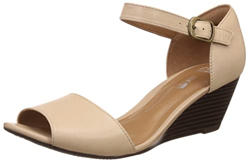 ea87813f33d51 Clarks Womens Smart Clarks Brielle Drive Leather Shoes In Nude ...