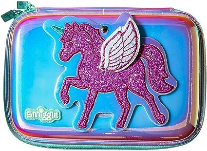 Smiggle Believe, estuche portalápices escolar rígido para niñas y niños con espejo oculto y acabado metalizado | Con dibujos de unicornios: Amazon.es: Oficina y papelería