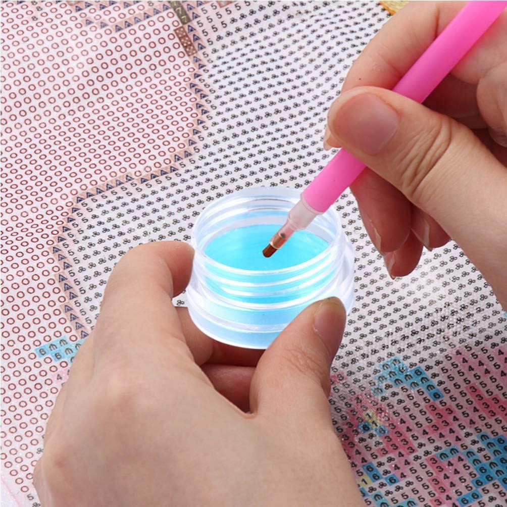 EXCEART Diamant Peinture Cire Organisateur Bo/îte de Rangement Pleine dargile Bricolage Diamant Art Porte-Cire Cas avec de La Colle Argile pour Diamant Peinture Broderie Accessoires 10