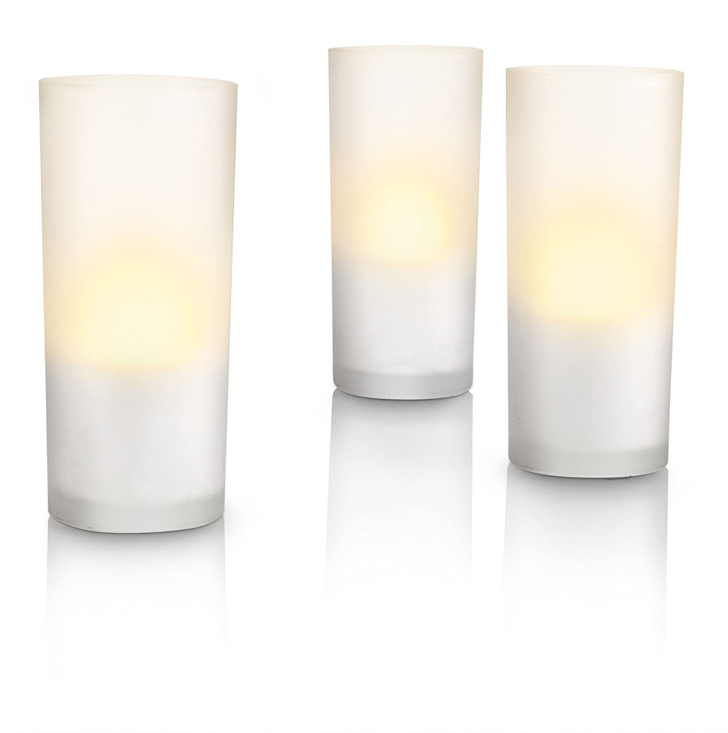 inklusive Leuchtmittel PHILIPS myLightAccent 3-flammig 6910860PH CandleLights CandleLightsWhite 3 set mit 6W