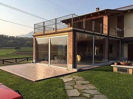 Tende Veranda Cristal : Tenda invernale in pvc cristal trasparente modello eolo copertura