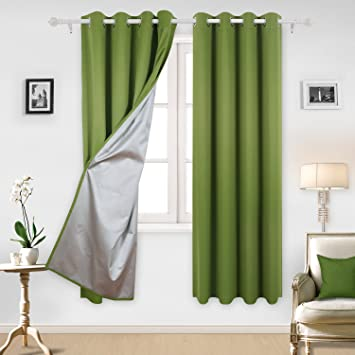 deconovo blackout curtains with silver coating thermal