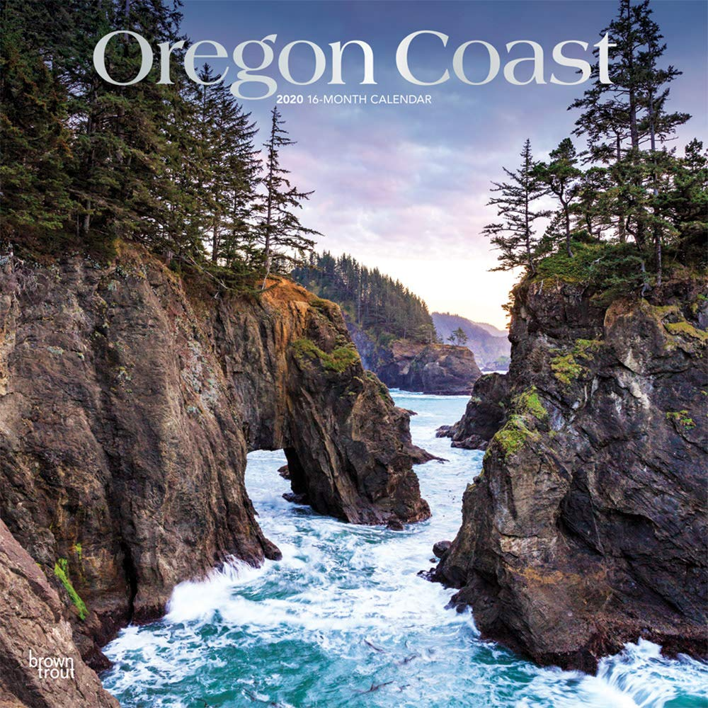 Oregon Coast 2020 12 x 12 Inch Monthly Square Wall Calendar with Foil Stamped Cover, USA United States of America Pacific West State Ocean Sea Nature by BrownTrout Publishers