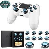 PS4アシストキャップ | PlayStation 4アナログスティック with 方向キーキャップ ◎△□✖️ボタンカバー Epindon Cap-Con C3 アルミ製 ネイビブルー 10個セット【進化版】