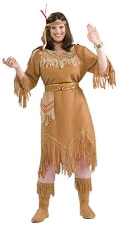 90a98f59be8 Native American Indian Maiden Fancy Dress Womens Halloween Plus Size Costume
