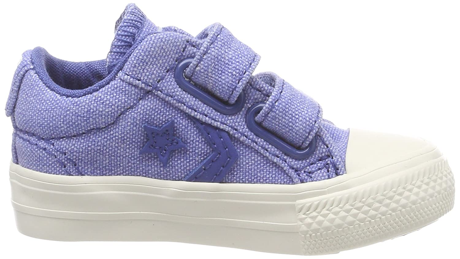 Converse Unisex Baby Star Player EV 2V OX Nightfall Blue Hausschuhe, Blau (Nightfall Blue/Nightfall Blue 441), 21 EU