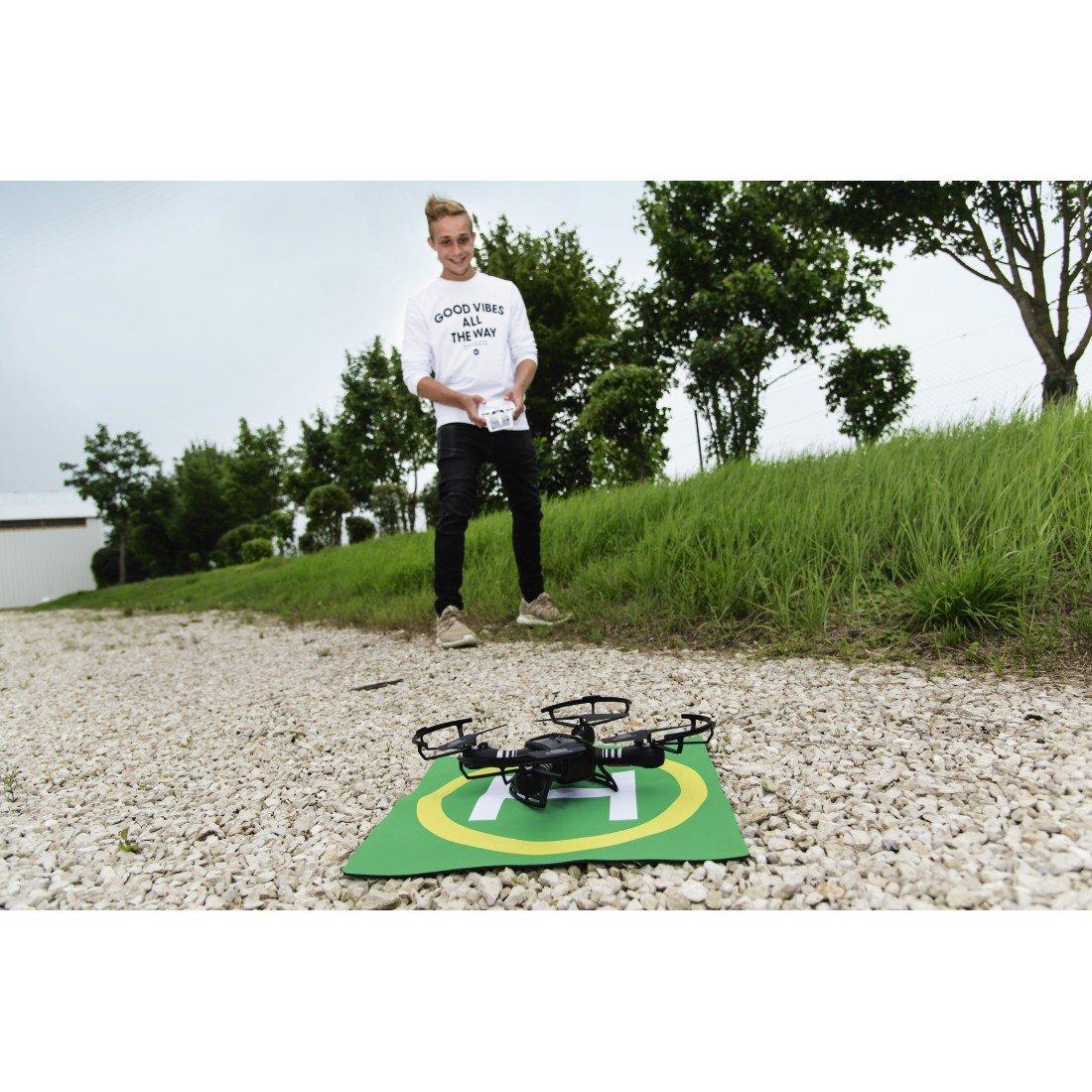 Hama Landeplatz f/ür Drohnen und Helikopter Landematte in 40x40x0, 3cm, rutschfest, einrollbar, mit Landefl/ächen-Symbol