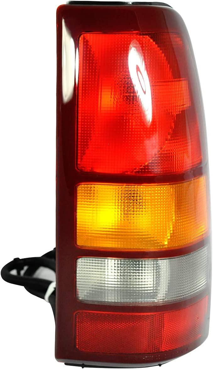 Includes Bulb Tail Light Lamp For 1999-2002 CHEVY SILVERADO 1500 and 1999-2002 GMC SIERRA 1500