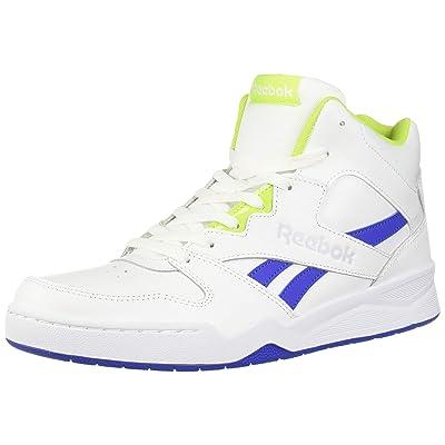 Reebok Men's Royal BB4500 HI2, White/Crushed Cobalt/neon Lime/Cold Grey, 13 M US | Fashion Sneakers
