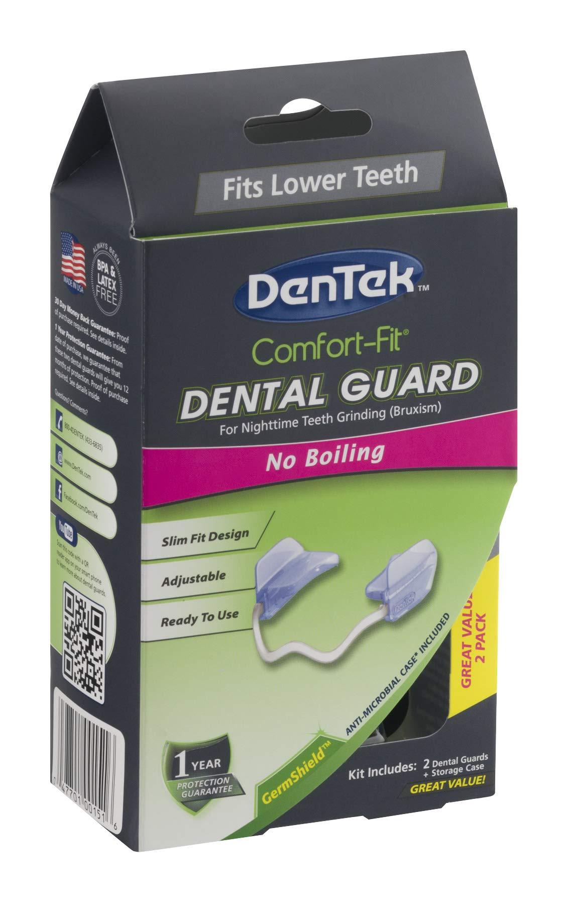 DenTek Comfort-Fit Dental Guard Kit | For Nighttime Teeth Grinding | 2 Pack