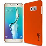 Galaxy S6 Edge+ Plus Case, CoverON [Slender Fit Series] Slim Matte Hard Polycarbonate Back Cover Phone Case (Neon Orange) for Samsung Galaxy S6 Edge+ Plus
