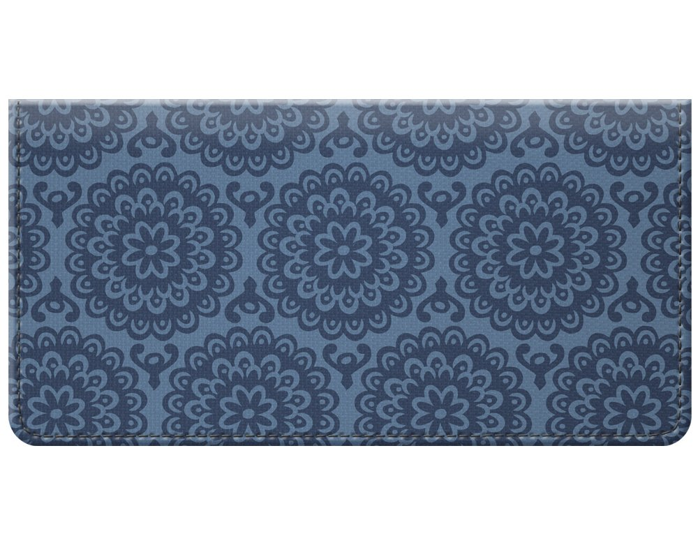 Snaptotes Floral Denim Printed Vintage Design Checkbook Cover
