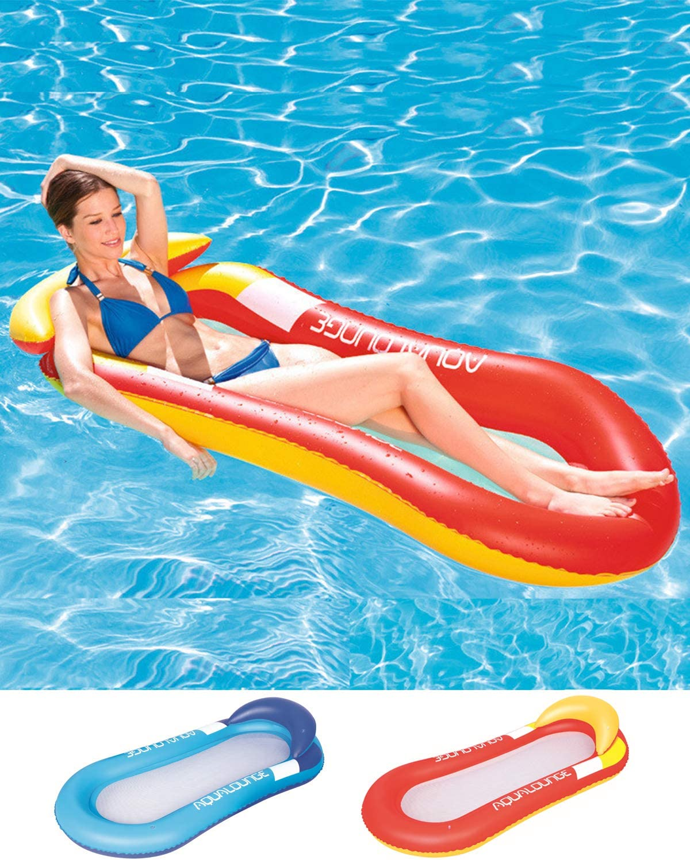 Cozywind Colchoneta Hinchable Piscina Flotador Inflable, Tumbona Hinchable de Playa,Sofá Hinchable Plegable con Almohada,160×84CM