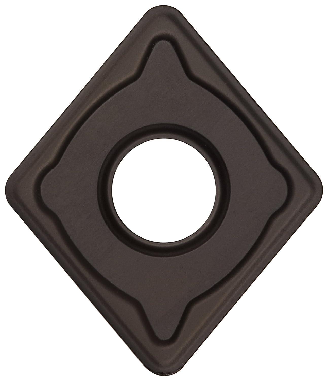 "Sandvik Coromant T-Max P Carbide Turning Insert, CNMG, 80 Degree Diamond, KM Chipbreaker, GC3205 Grade, Multi-Layer Coating, CNMG 432-KM, 1/2\"" iC, 0.0315\"" Corner Radius (Pack of 10)"