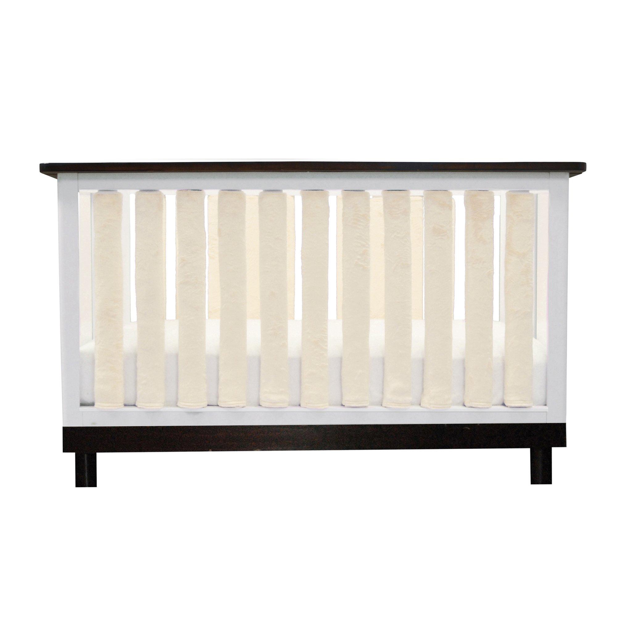 Go Mama Go 24 Piece Pure Safety Vertical Crib Liners, Cream Minky by Go Mama Go