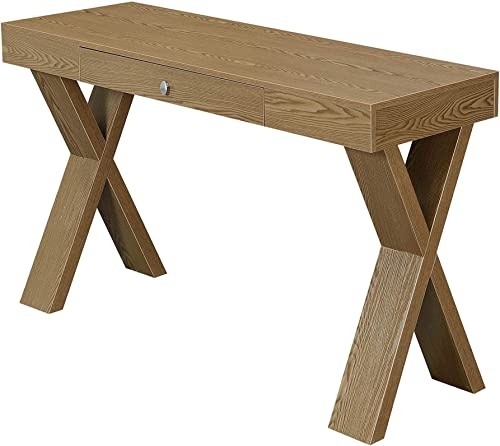 Convenience Concepts Newport Desk with Drawer, Driftwood