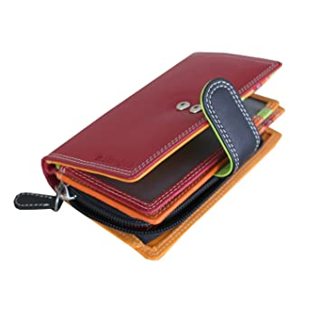 4adcb7407a Leather Wallet Best Leather Purse for Women Ladies Small RFID Blocking Red  Wallet Multi coloured Designer