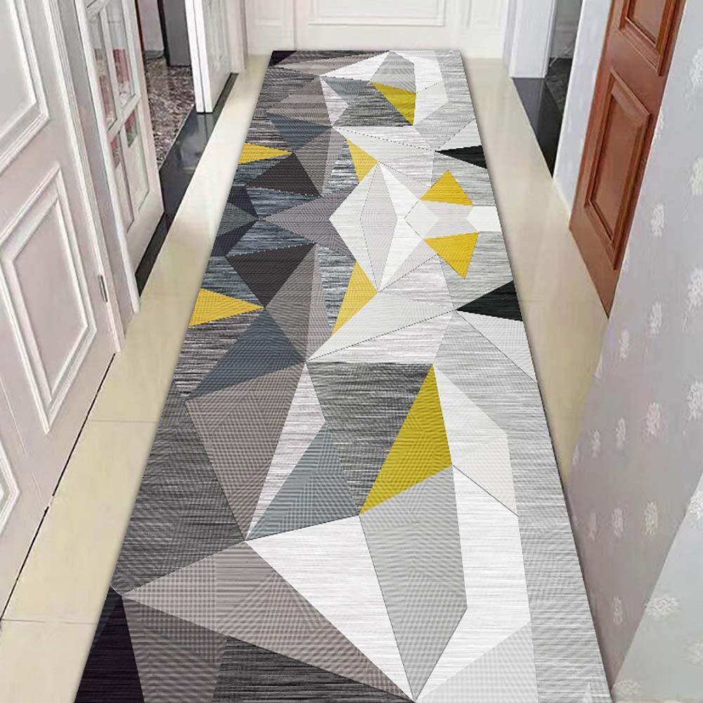 GuoWei-じゅうたん ラグ 現代の 幾何学的な パッチワーク ための ロング 入り口 廊下 リビングルーム サーマル印刷 非スキッド 低い山 カスタマイズ可能 (Color : A, Size : 1.4x9m) B07SL5W6JZ A 1.4x9m